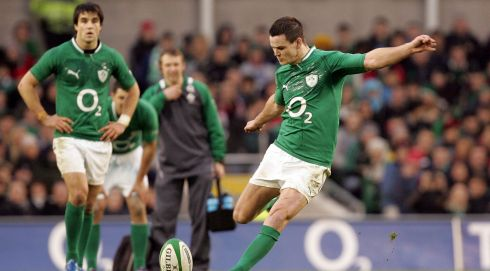 Outhalf: Jonathan Sexton (Ireland). Photograph: Alan Betson/The Irish Times