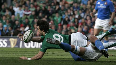 Scrumhalf: Conor Murray (Ireland) Photographer: Dara Mac Donaill/The Irish Times