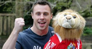 Ulster's Tommy Bowe in Belfast Zoo after he was named in yesterday's 37 man 2013 British & Irish Lions squad tour to Australia. Photograph: William Cherry/Presseye/Inpho