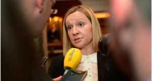 Minister of State for European Affairs Lucinda Creighton TD is questioned about abortion legislation she arrives the Chartered Accountants Leinster Society April Luncheon in the Westin Hotel Dublin yesterday. Photograph: Bryan O'Brien/The Irish Times