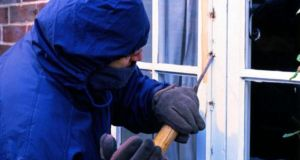 File image of a burglary. Four teenagers were arrested yesterday in Tullamore by gardaí targeting organised criminal groups involved in house-breaking.