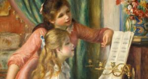 Art or kitsch?: a detail of Renoir's Girls at a Piano. Photograph: Universal History Archive/UIG/Getty