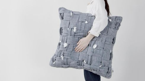 Trending: Huhu do you think you are? Part security blanket, part child's comforter, the Huhu pillow is designed to soothe those of us who twitch, fidget or worry. Created by Helsinki-based Cool Enough Studio (coolenoughstudio.com) , when worried and picked at it reveals little hoops of woven fabric that can be pulled at to distract and soothe. The cotton-polyester mix cushion comes in three sizes: the small (35cm sq) and medium (50cm sq) are available in white or grey and cost €160 and €170 respectively; the large (65cm sq, pictured) is available in grey and costs €180. Available from the end of May.