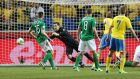 Republic of Ireland's David Forde in action during the World Cup qualifier against Sweden in Stockholm. Photograph: Donall Farmer/Inpho
