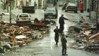 RUC personnel in Omagh after the bomb explosion in 1998. Photograph: Frank Miller