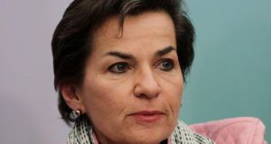 UN climate chief Christiana Figueres who has been anxious to emphasise what countries are already doing, rather than having the media focus on differences, rows and deadlock. Photograph: Reuters