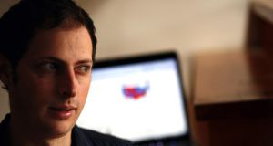 Reading the numbers: Nate Silver. Photograph: Beth Rooney/The New York Times