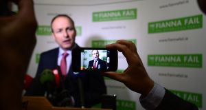 Fianna Fáil leader Micheál Martin reportedly argued that the Constitutional article 40.3.3 would ensure 'the floodgates would not open'. Photograph: Alan Betson/Irish Times