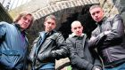 "Peter Coonan, Robert Sheehan, Tom Vaughan Lawlor and Killian Scott, members of the cast of the RTÉ drama Love/Hate. ""RTÉ continues to make stand-out programmes, from high-end Irish TV drama like Love/Hate to national and international news, big sporting occasions, specialised arts, Irish-language and music programming."""