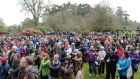 "People attending the ""Walk in the Woods"" protest on Sunday.  Photograph: Eric Luke"