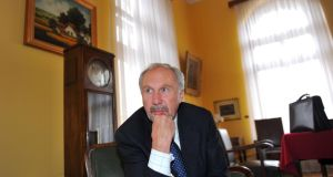 Ewald Nowotny, governor of Austria's central bank, and European Central Bank governing council member, said the possibility the European Central Bank might cut its deposit rate below zero is not relevant for now.