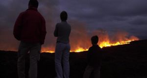 A gorse fire on the Hill of Howth, Co Dublin in 2003. Photograph: Frank Miller/The Irish Times