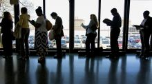 The US unemployment rate fell to a four-year low of 7.5 per cent in April.