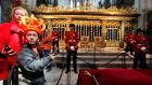 A mother and her son visit the Nieuwe Kerk in Amsterdam the day after the investiture ceremony of King Willem-Alexander was held in the church. Photograph: Cris Toala Olivares