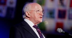 "President Michael D Higgins said Europe faced a ""moral crisis"" and called on European leaders to undertake a radical rethink about how they are handling the economic crisis. Photograph: Bryan O'Brien"