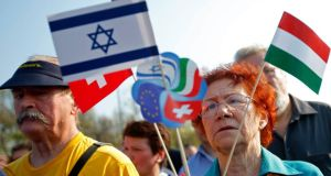 Participants in the March of the Living walk in Budapest last month honoured more than half a million Hungarian Jews killed in the Holocaust during the second World War. Photograph: Reuters/Laszlo Balogh