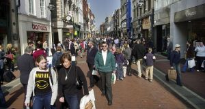 Grafton Street, Dublin: repaving the street will begin later this month.  Photograph: Brenda Fitzismons