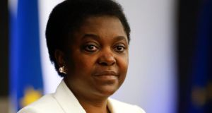 Italian minister for integration Cecile Kyenge who said yesterday she would not let racist insults and hostile reaction to her appointment distract her from her goals to foster a greater sense of community and integration. Photograph: Tony Gentile/Reuters