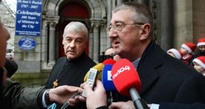 Church of Ireland Archbishop Michael Jackson with Archbishop Diarmuid Martin.
