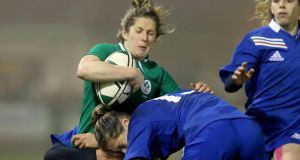 Ireland's Alison Miller in action against France. Photograph: Dan Sheridan/Inpho