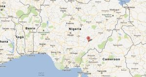 About 30 people were killed in an ethnic attack at a funeral in Wukari in Nigeria yesterday. Image: Google Maps
