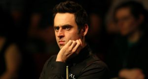 Ronnie O'Sullivan: struggling to control his inner chimp at The Crucible.  Photograph: Warren Little/Getty Images