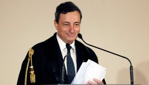 European Central Bank president Mario Draghi departed from a prepared speech yesterday to reiterate the central bank's readiness to cut interest rates again