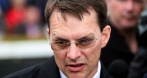 Aidan O'Brien: yesterday nominated Ruler Of The World as a likely starter in the Chester Vase. Photograph: Inpho