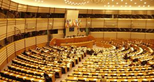 The European Parliament in Brussels: Ireland's 12 MEPs had on average an 83 per cent attendance rate at European Parliament plenary sessions, a drop of 2 per cent from 2011, which places Ireland 19th out of the 27 EU countries, a report by the European Movement Ireland shows.
