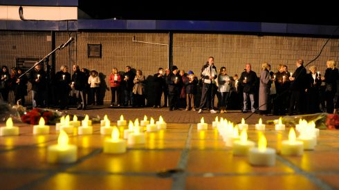 "Relatives say the report of the independent examination into their calls for a fresh inquiry that was carried out in 2008 was ""significantly altered and rewritten before publication"". Pictured are relatives and friends of the victims of the Stardust fire at a candle-lit vigil held to mark the 30th anniversary of the tragedy in Artane in 2011. Photograph: Dave Meehan"