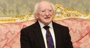 President Michael D Higgins was saying the current ethos of the EU project, founded on the idea that markets know best, irrespective of the social cost, is an abomination.  Photograph: Frank Miller