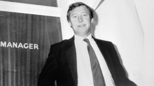 New Manchester United manager Alex Ferguson pictured in November 1986. Photograph: PA