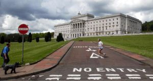 The Parliament Buildings in the Stormont Estate in Belfast. Photograph: Paul Faith.
