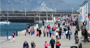 Dún Laoghaire pier: festival will include exhibitions, a genealogy village, traditional music, embassy celebrations, a concert and a parade.