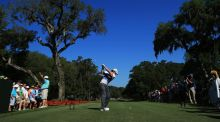 Rory McIlroy  plays a shot from the 15th tee during round one of the Players Championship at TPC Sawgrass  in Ponte Vedra Beach, Florida. Photograph: Richard Heathcote/Getty Images
