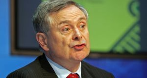 "Minister for Public Expenditure and Reform Brendan Howlin: ""The deputy has a brass neck.''  Photograph: Eric Luke"