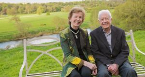 Former Irish president Mary Robinson and former US president Jimmy Carter. Photograph: Jeff Moore/The Elders
