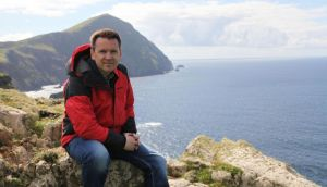 Cliffhanger: Derek Mooney proves an affable, easy-going enthusiast in Secrets of the Irish Landscape