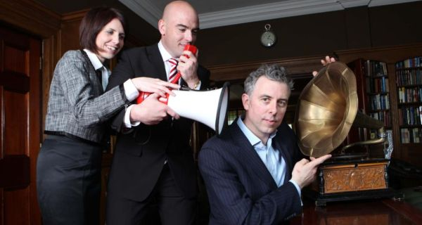 From left: Norma O'Callaghan, Trend Micro, Ronan Murphy, Smarttech.ie and Paddy O'Connell, Berkley Group.