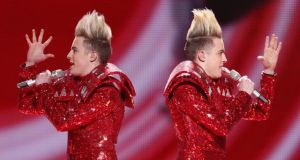Losers: Jedward perform in Düsseldorf in 2011. Photograph: Sean Gallup/Getty