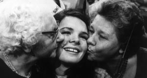 Winner: Dana celebrates after winning the 1970 competition, in Amsterdam. Photograph: Keystone/Getty