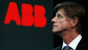 ABB said no date had been set for chief executive Joe Hogan to step down. Photograph: Michael Buholzer/Reuters