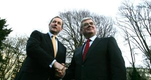 "Taoiseach Enda Kenny and Tánaiste Eamon Gilmore. ""The Coalition parties have presented a united front on the big economic issues."" Photograph: Alan Betson"