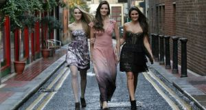 Karen Fitzpatrick (centre), Sarah Morrissey (left) and Lynn Kelly model clothes by Monsoon Accessorize. Photograph: Eric Luke