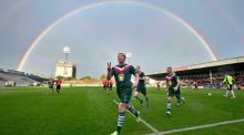 Cork City's Denis Behan celebrates his penalty at Dalymount. Photograph: Morgan Treacy/Inpho