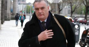 Ian Bailey at the High Court yesterday. He has always protested his innocence and denied any involvement in the death of Sophie Toscan du Plantier. Photograph: Collins Courts
