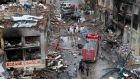 The bombings that killed dozens in the Turkish city of Reyhanli on Saturday later expose the violent risks of spillover into neighbouring countries posed by the Syrian conflict. Photograph:  Reuters/Umit Bektas