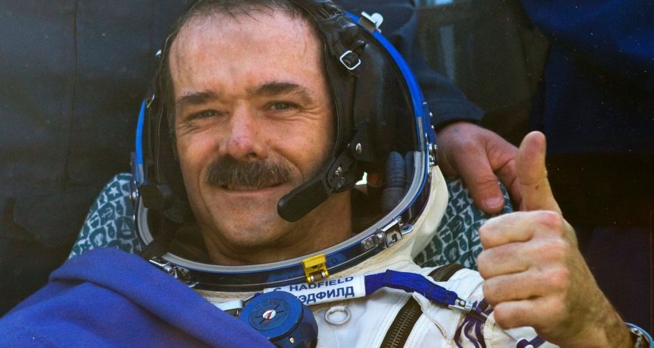 Astronaut Chris Hadfield returns