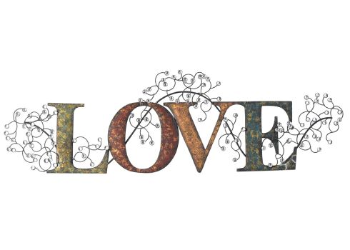 Metal 'LOVE' wall art, €70 - LittlewoodsIreland.ie