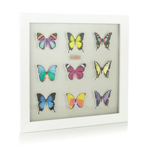 White framed butterfly art, €46 by Butterfly by Matthew Williamson at Debenhams